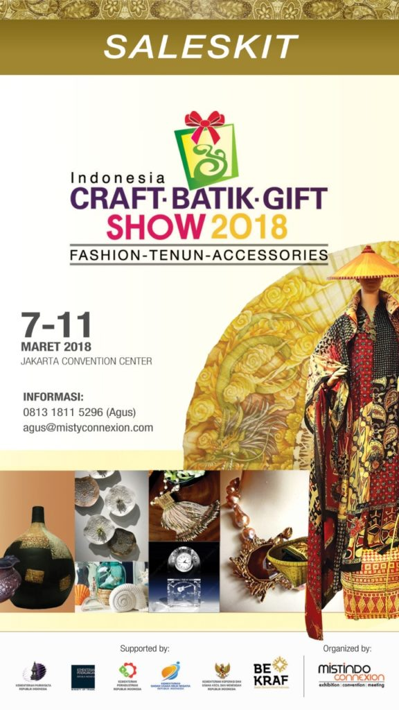 Craft, Batik & Gift Show - Jakarta Convention Center, 7-11 Maret 2018