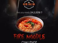 Fire Noodle Challenge - The Origin Coffee & Dine, 24 Februari 2018