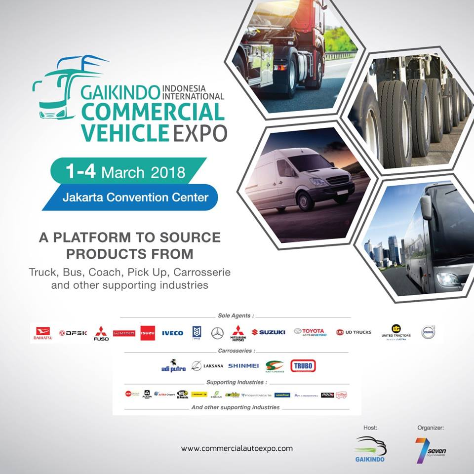 GAIKINDO Indonesia International Commercial Vehicle Expo (GIICOMVEC) - JCC, 1-4 Maret 2018