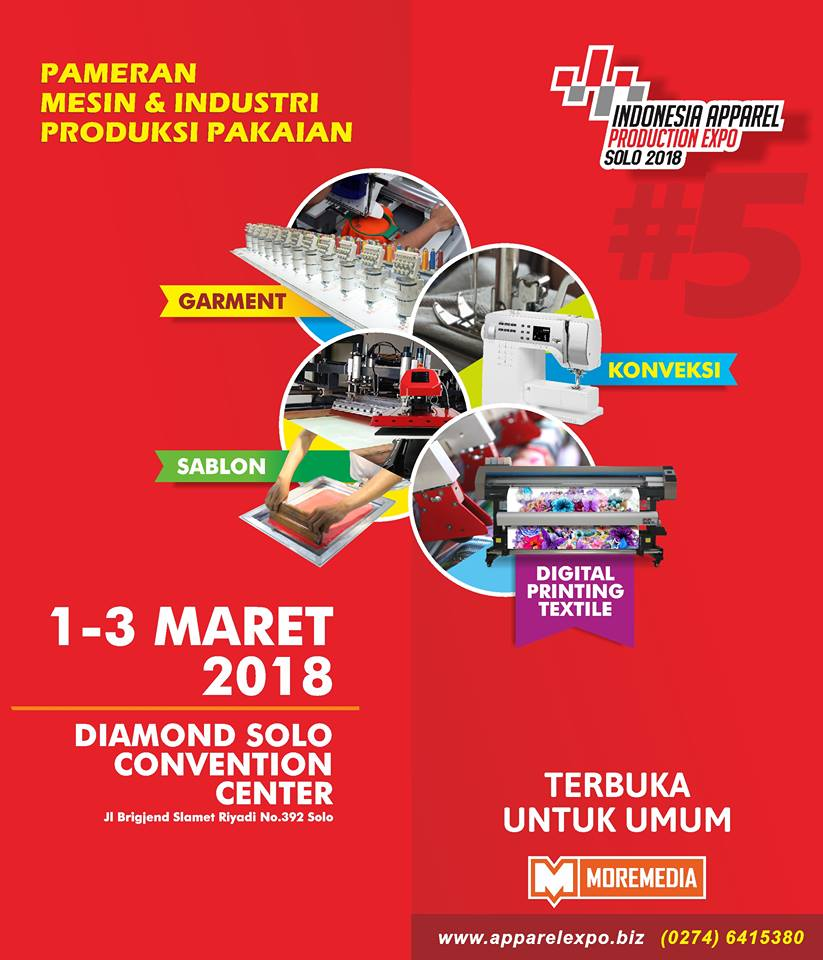 Indonesia Apparel Production Expo (IAPE) - Diamond Solo Convention Center, 1-3 Maret 2018