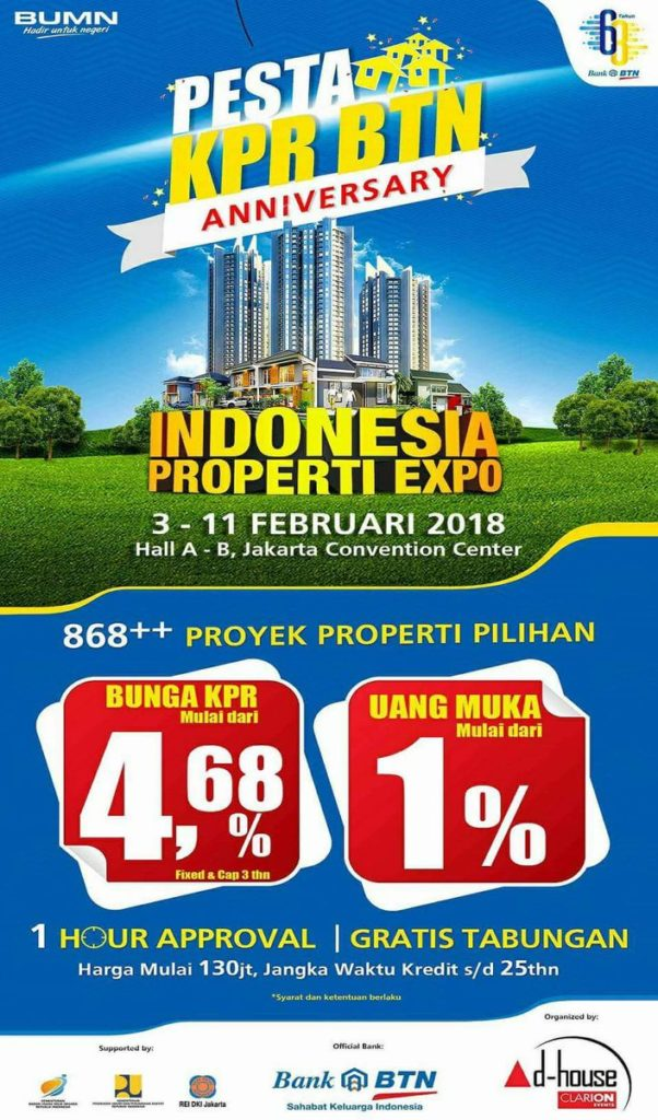 Indonesia Property Expo - Jakarta Convention Center (JCC), 3-11 Februari 2018 - HaiEvent.com
