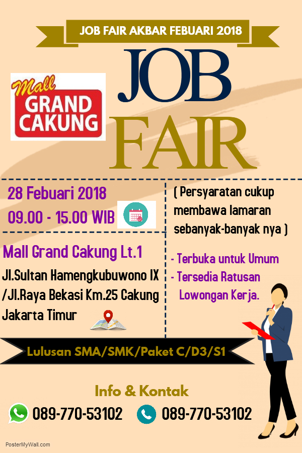 Job Fair Grand Cakung - Mall Grand Cakung, 28 Februari 2018