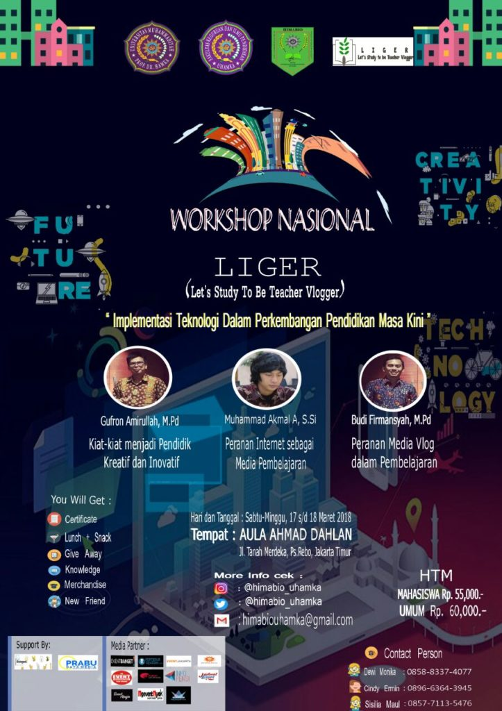 Liger (Let's Study To Be Teacher Vlogger) - UHAMKA, 17-18 Maret 2018