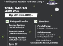 Lomba Robot Nasional (Baronas) - ITS Surabaya, 31 Maret - 1 April 2018