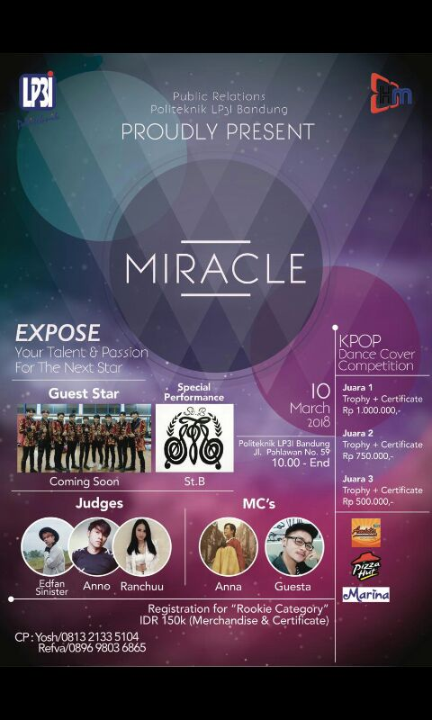 Miracle (K-Pop Dance Competition) - LP3I Bandung, 10 Maret 2018