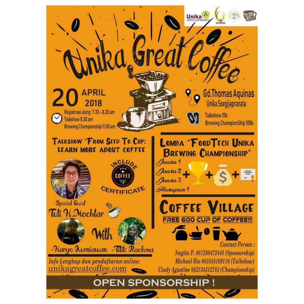 Unika Great Coffee - Gedung Thomas Aquinas, 20 April 2018