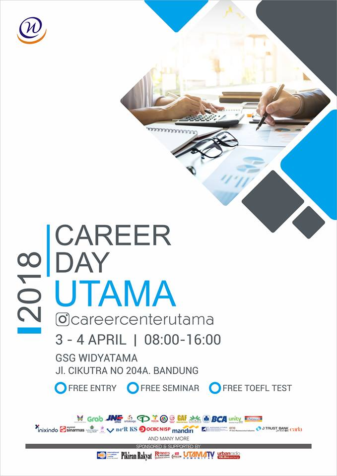 Career Day Utama - GSG Widyatama Bandung, 3-4 April 2018
