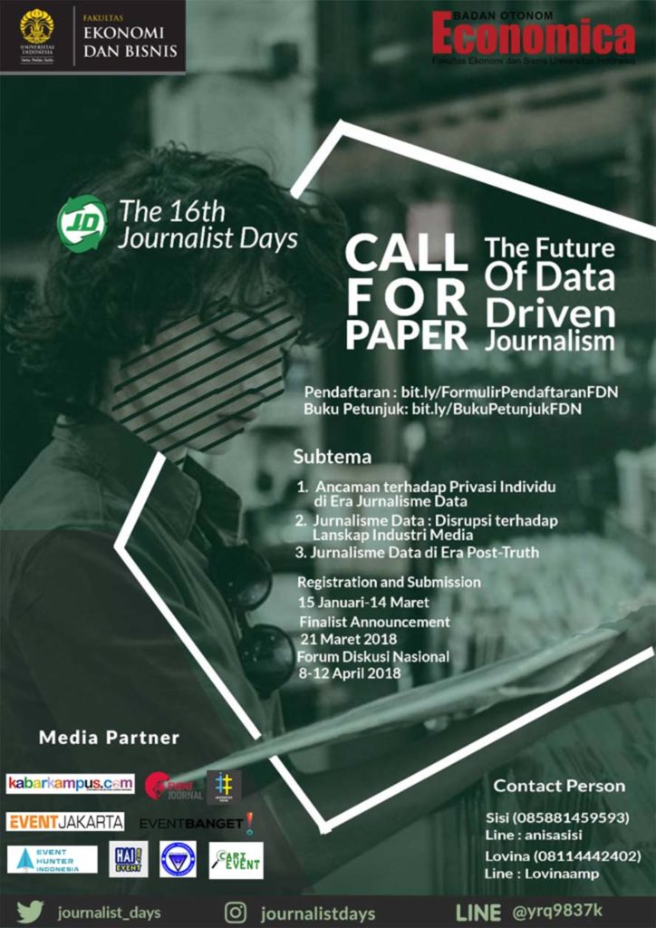 Extended Call for Paper FDN The 16th Journalist Days FEB UI