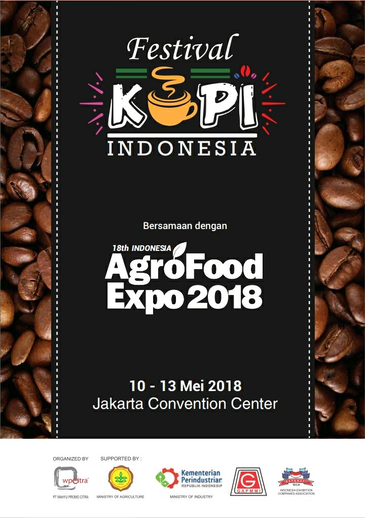 Indonesia Coffee Festival - Jakarta Convention Center, 10-13 Mei 2018