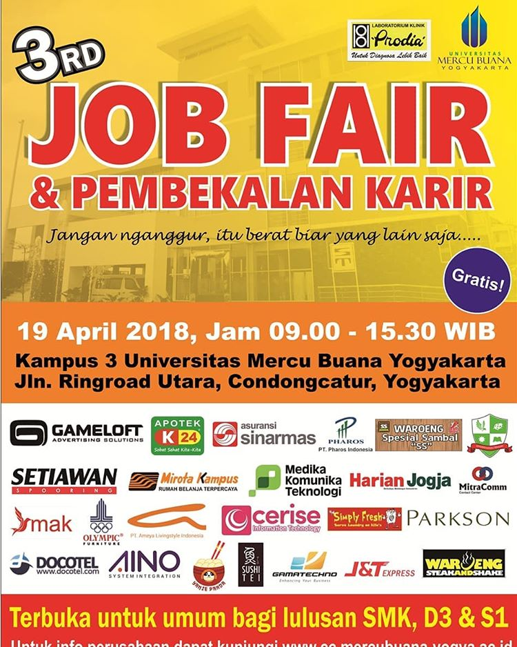 Job Fair UMBY - Yogyakarta, 19 April 2018