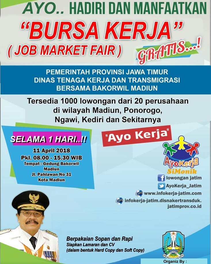 Job Market Fair Madiun - Gedung Bakorwil, 11 April 2018