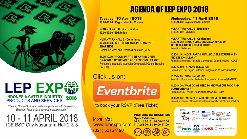 Livestock Export Program (LEP) Expo - ICE BSD City, 10-11 April 2018