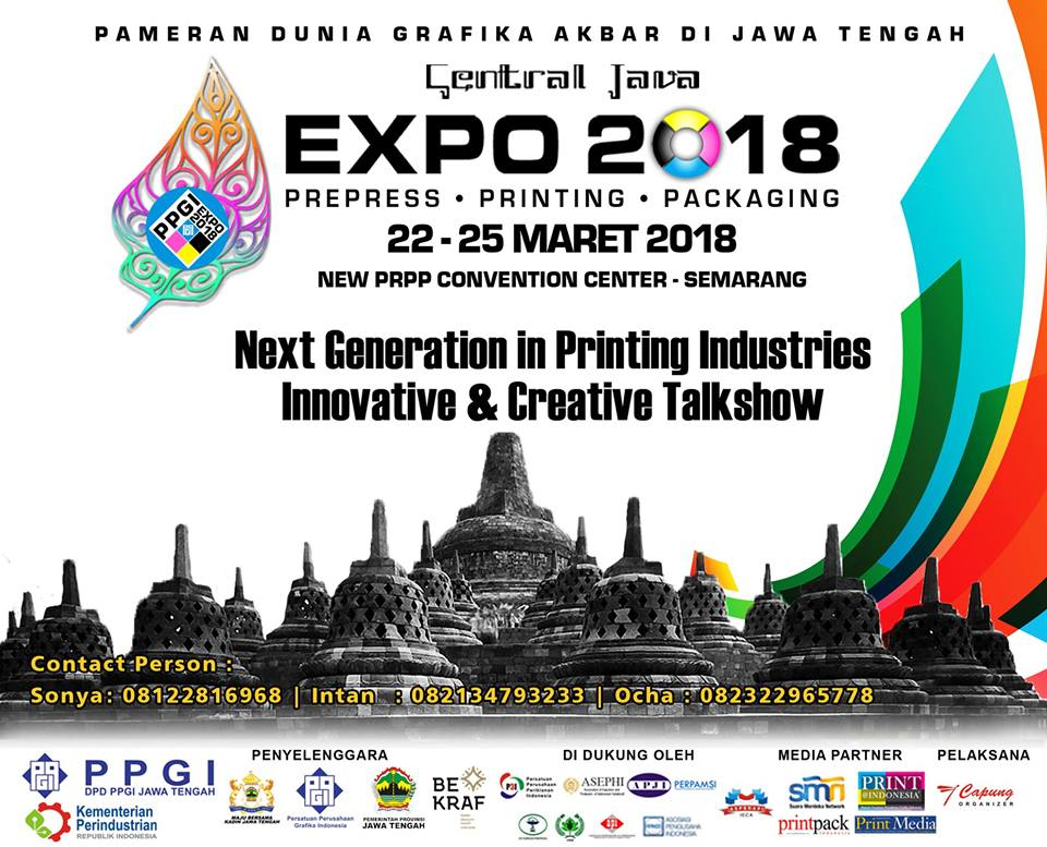 Pameran Grafika: Central Java Expo - New PRPP Convention Center, 22-25 Maret 2018