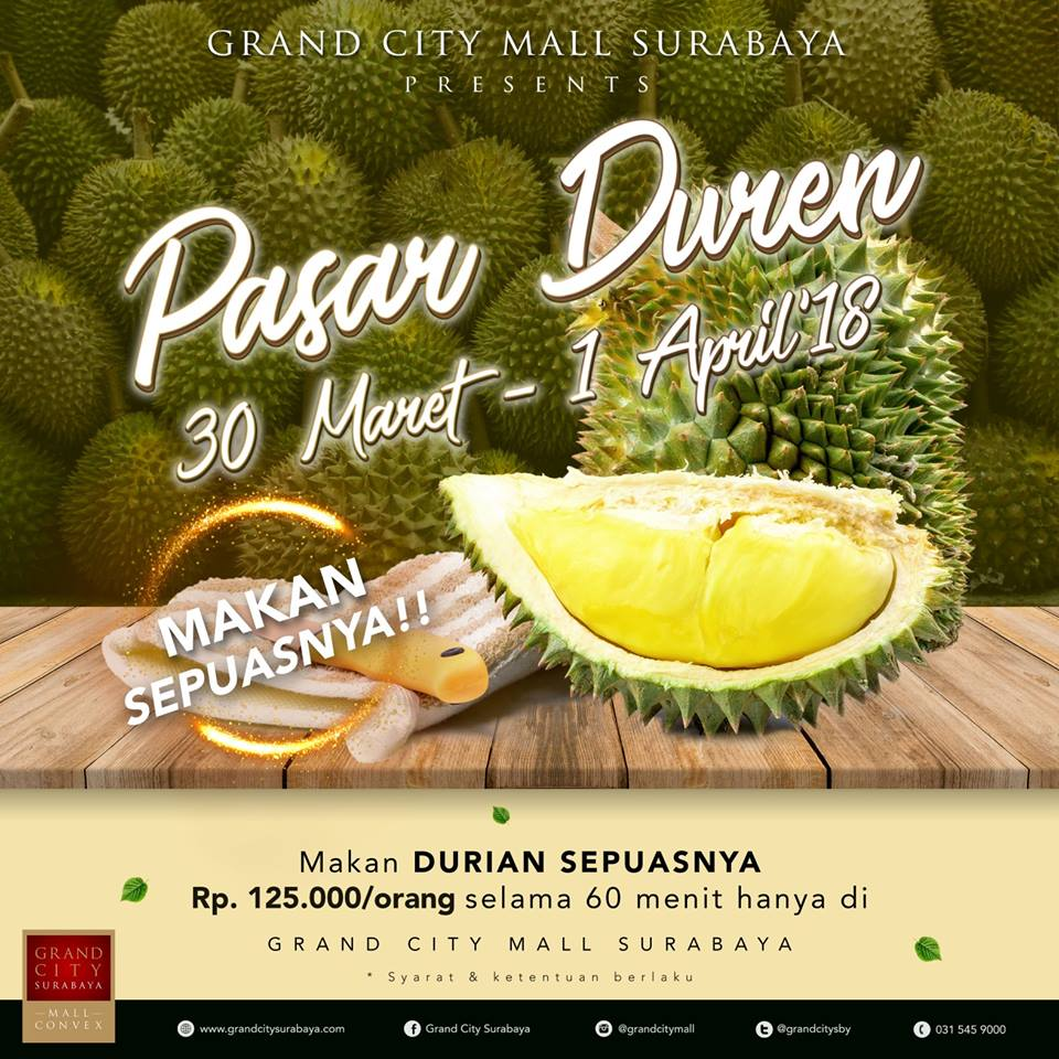 Pasar Duren - Grand City Mall Surabaya, 30 Maret - 1 April 2018