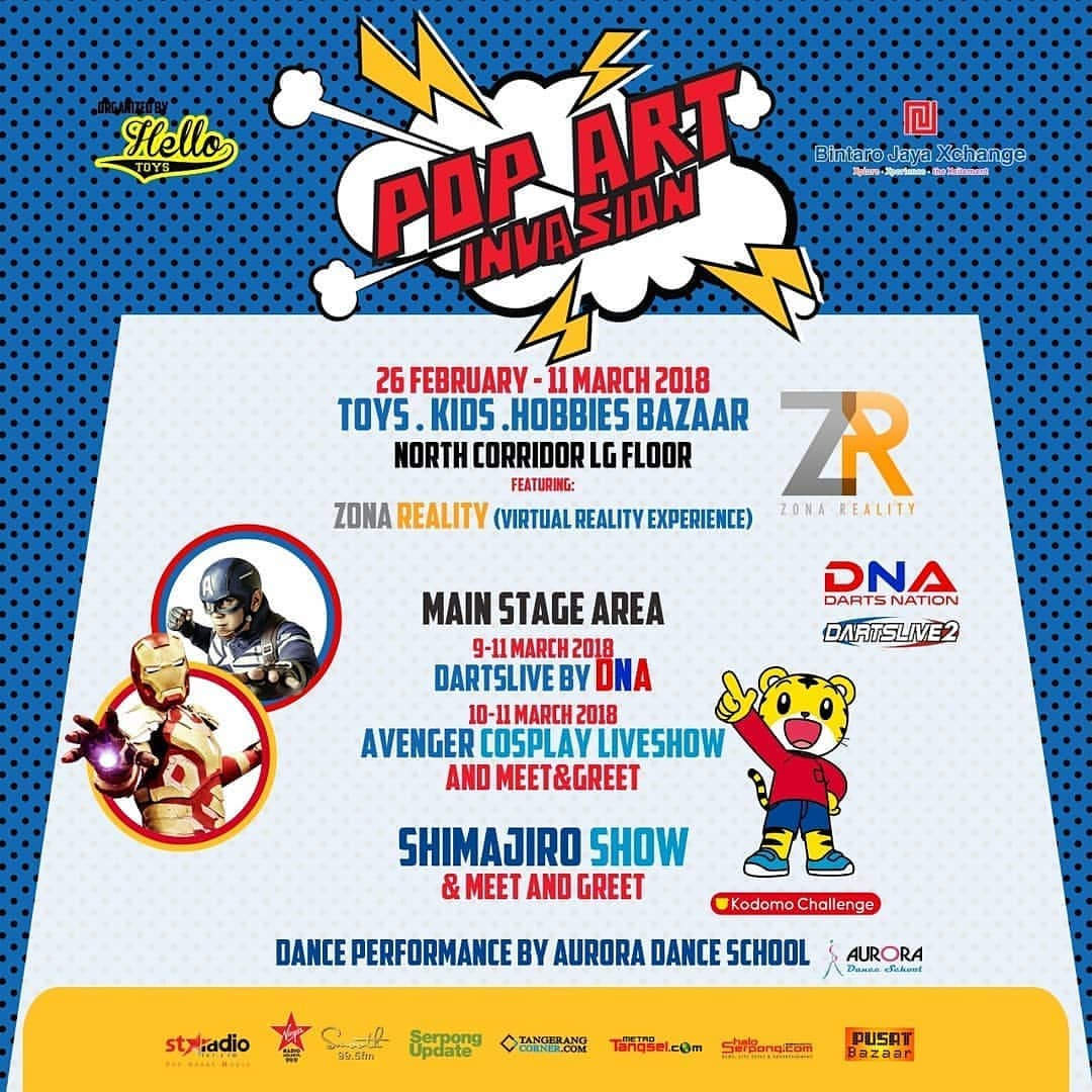 Pop Art Invasion - Bintaro Jaya Xchange Mall, 26 Februari - 11 Maret 2018