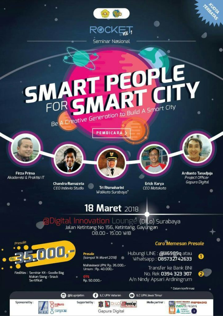 "Rocket Vol. I ""Smart People for Smart City"" - DILo Surabaya, 18 Maret 2018"