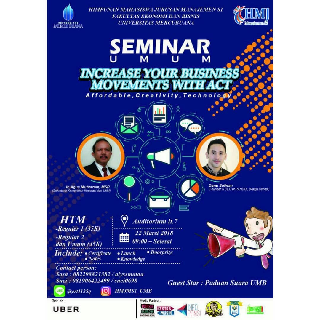 "Seminar ""Increase Your Business Movements with ACT"" - Universitas Mercu Buana, 22 Maret 2018"