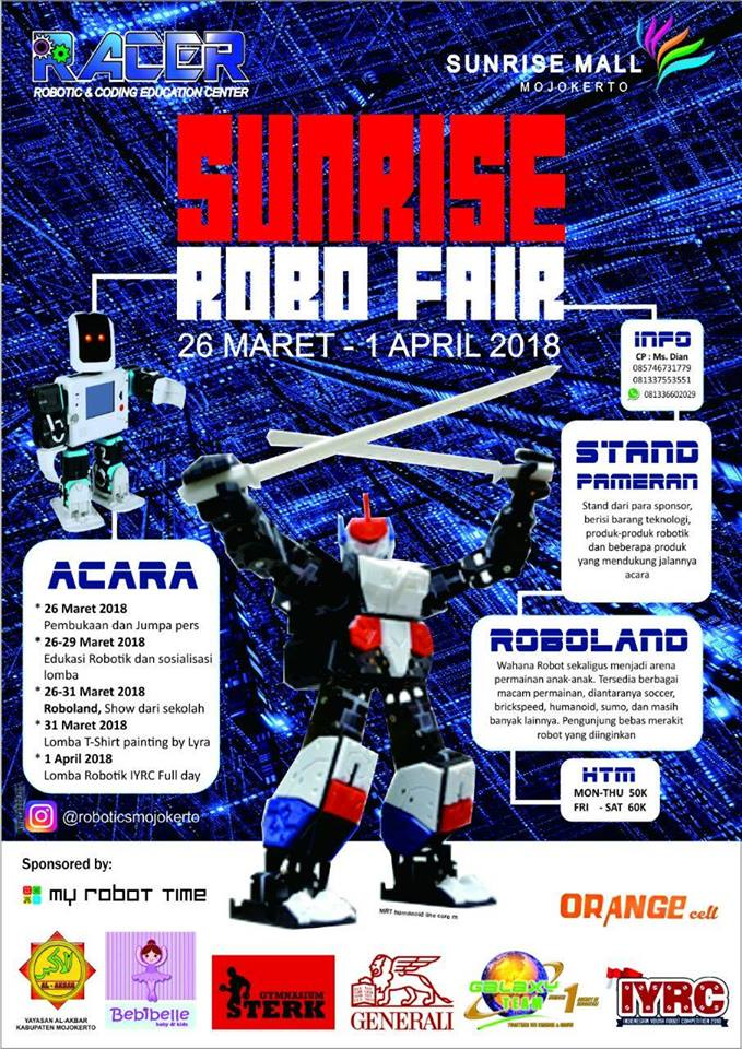 Sunrise Robo Fair - Sunrise Mall Mojokerto, 26 Maret - 1 April 2018