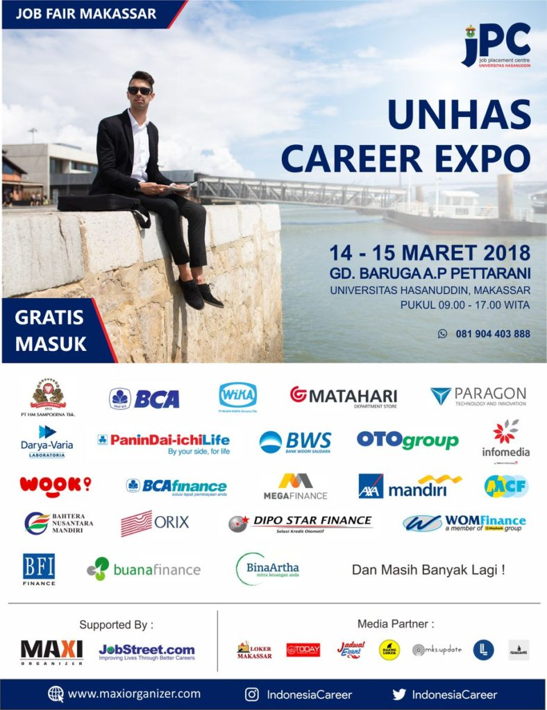 UNHAS Career Expo - Makassar, 14-15 Maret 2018