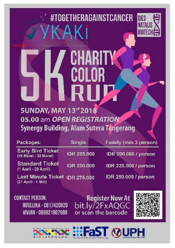 5K Charity Color Run - Synergy Building Tangerang, 13 Mei 2018