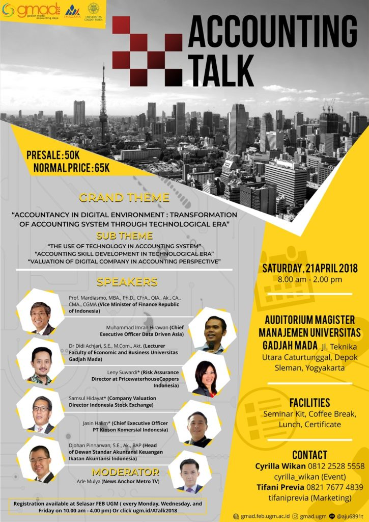 Accounting Talk - Universitas Gadjah Mada, 21 April 2018