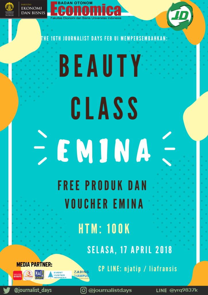 Beauty Class The 16th Journalist Days x Emina - Universitas Indonesia, 17 April 2018