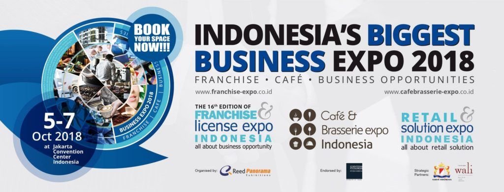 Franchise & License Expo Indonesia (FLEI) - Jakarta Convention Center, 5-7 Oktober 2018