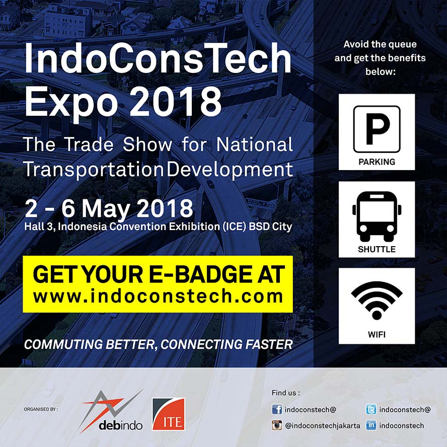 IndoConsTech Expo - ICE BSD City, 2-6 Mei 2018