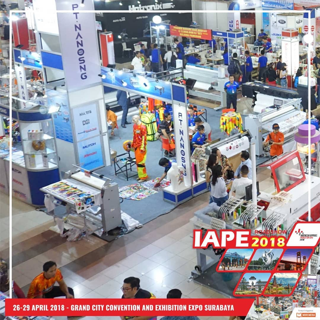 Indonesia Apparel Production Expo (IAPE) - Grand City Surabaya, 26-29 April 2018