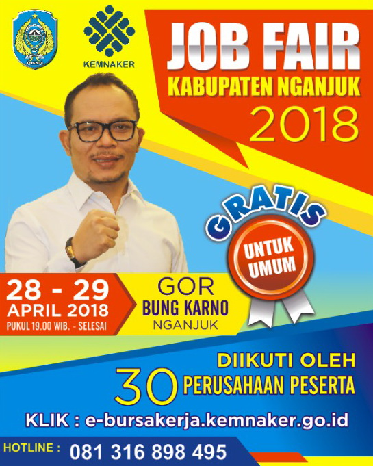 Job Fair Nganjuk - GOR Bung Karno, 28-29 April 2018