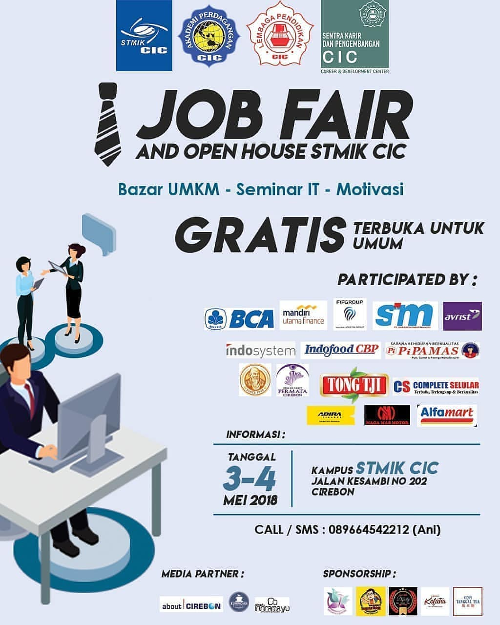 Job Fair &Open House STMIK CIC - Cirebon, 3-4 Mei 2018