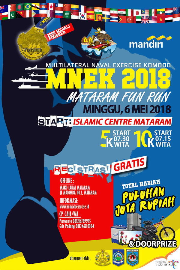 MNEK 2018 : Mataram Fun Run, 6 Mei'18