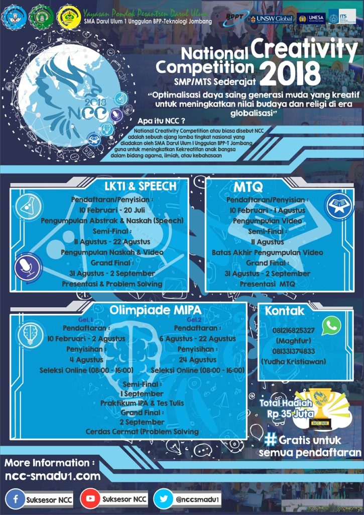 National Creativity Competition 2018 - SMA Darul Ulum 1 Jombang