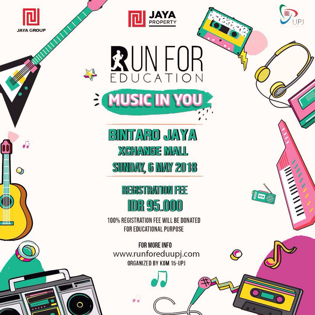 Run For Education - Bintaro Jaya Xchange Mall, 6 Mei 2018