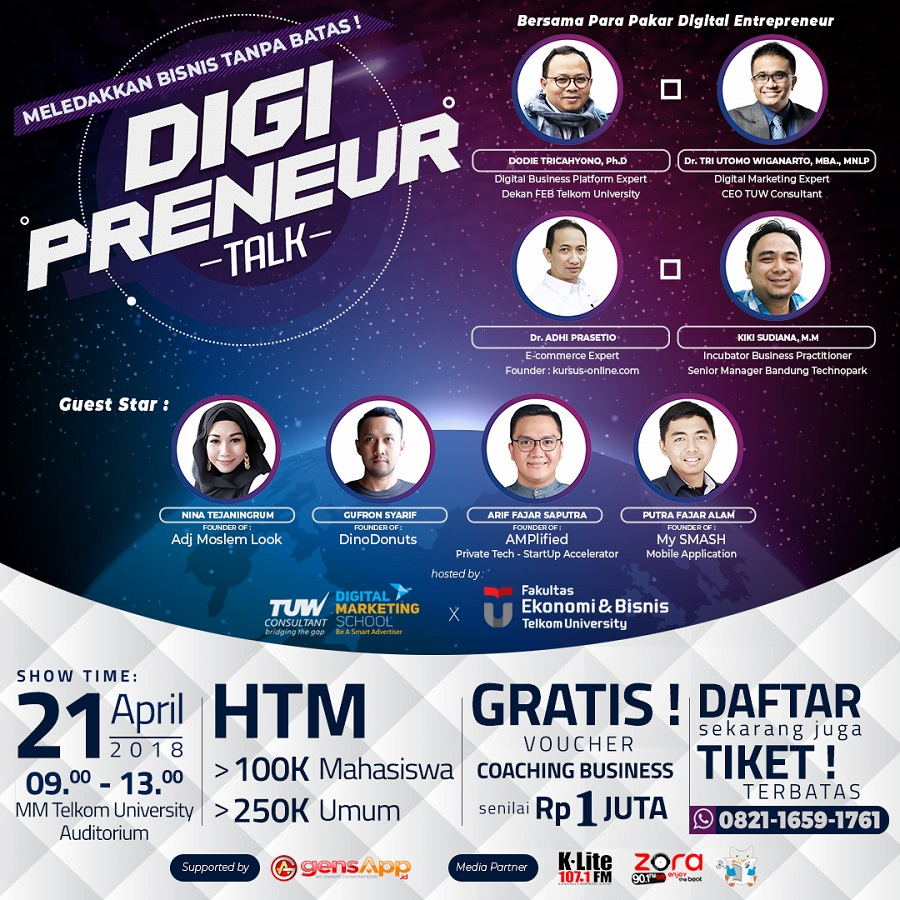 Upgrade Your Business - Gedung MM Telkom University, 21 April 2018