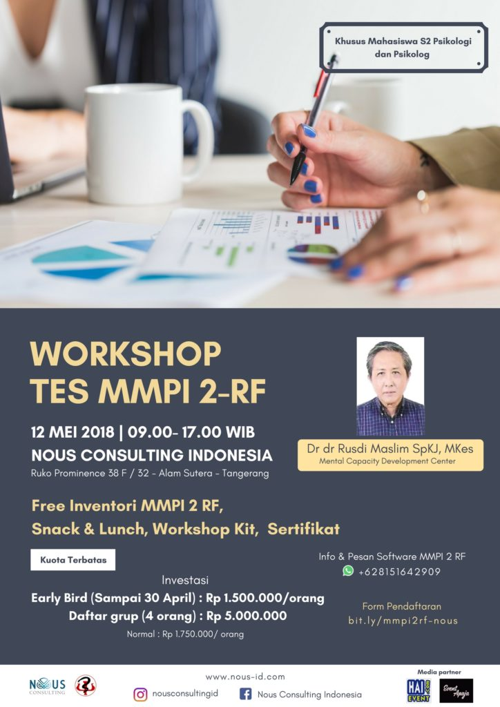 Workshop Tes MMPI 2 RF - Nous Consulting Indonesia, 12 Mei 2018