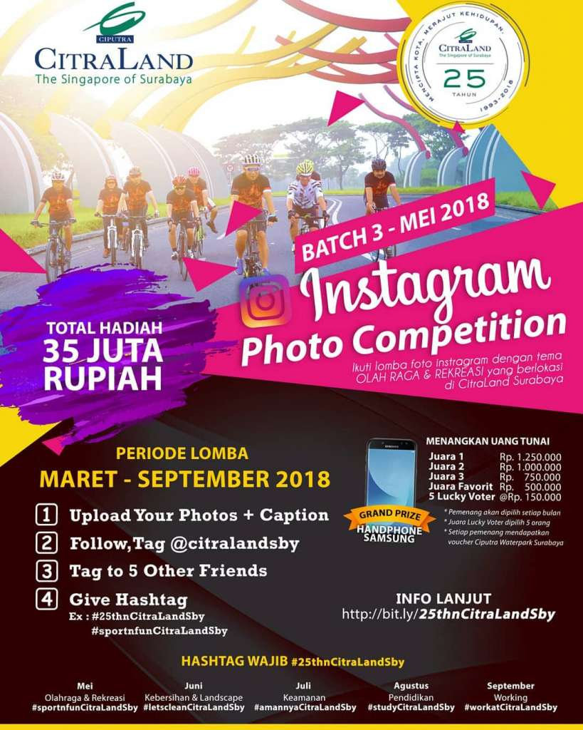 CitraLand Instagram Photo Competition, Periode sd September 2018