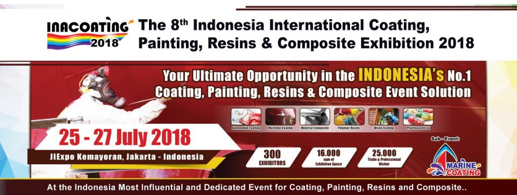 INACOATING - Jakarta International Expo, 25-27 Juli 2018