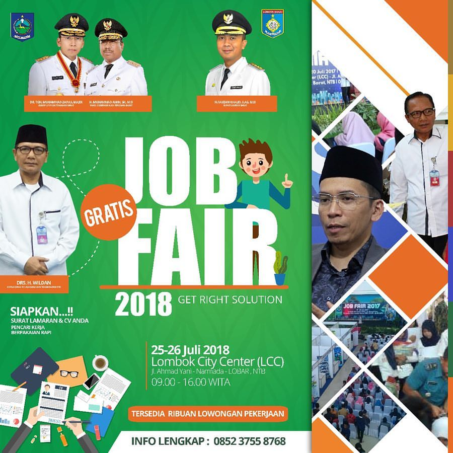Job Fair Mataram - Lombok City Center, 25-26 Juli 2018Job Fair Mataram - Lombok City Center, 25-26 Juli 2018