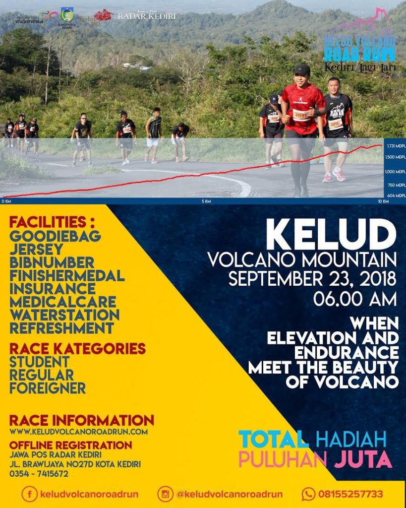 Kelud Volcano Road Run - Kediri, 23 September 2018