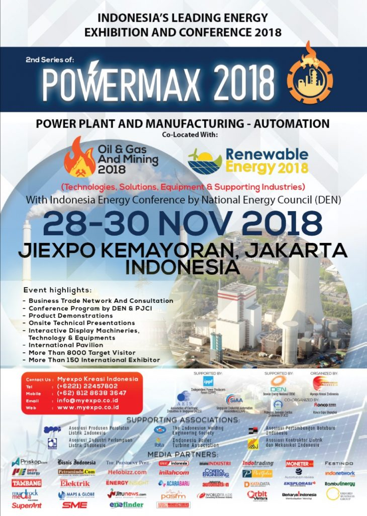 POWERMAX - JIExpo Kemayoran, 28-30 November 2018