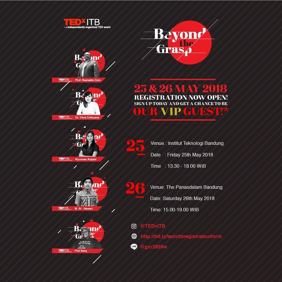 TEDxITB : Beyond the Grasp - Bandung, 25-26 Mei 2018