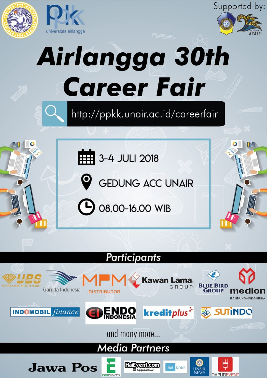 30th Airlangga Career Fair - UNAIR Kampus C, 03-04 Juli 2018
