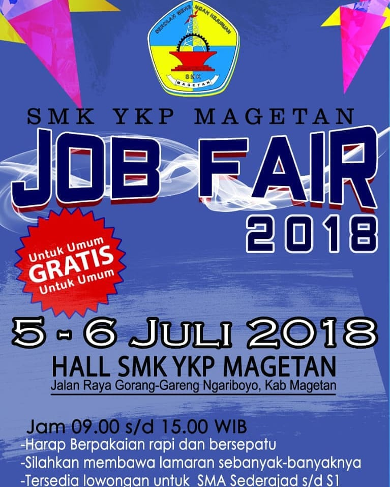 Job Fair SMK YKP Magetan, 5-6 Juli 2018