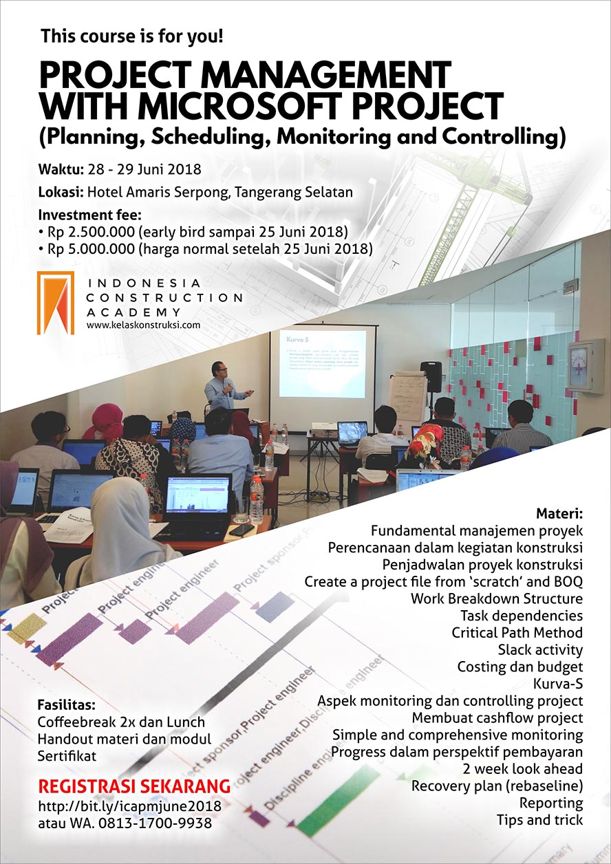 Public Training, Project Management with Microsoft Project - Hotel Amaris Serpong, 28 - 29 Juni 2018