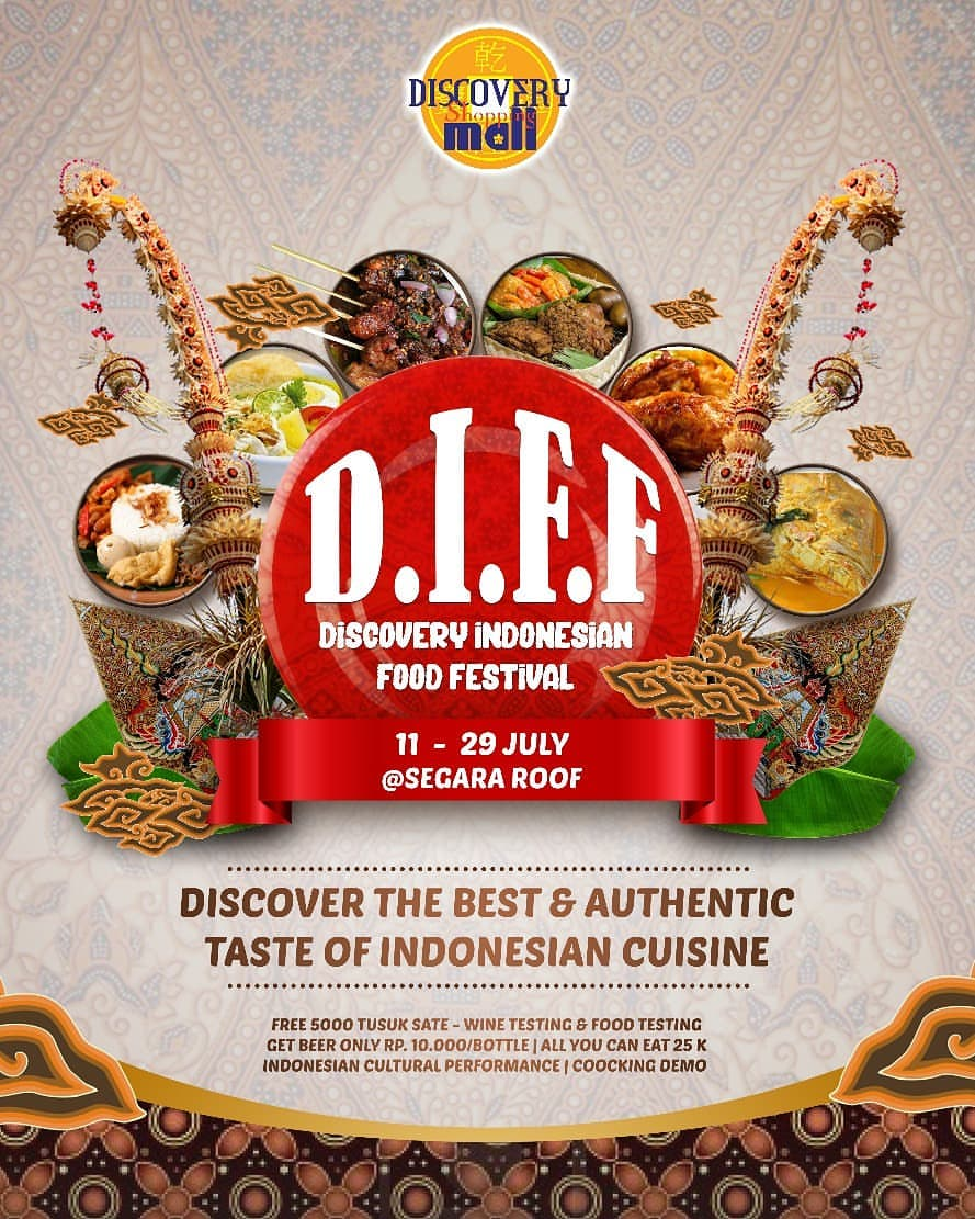 Discovery Indonesian Food Festival - Discovery Shopping Mall Bali, 11-29 Juli 2018