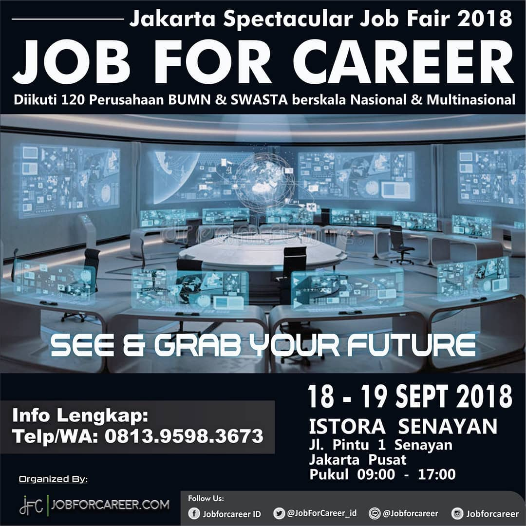Job For Career Jakarta - Istora Senayan, 18-19 September 2018
