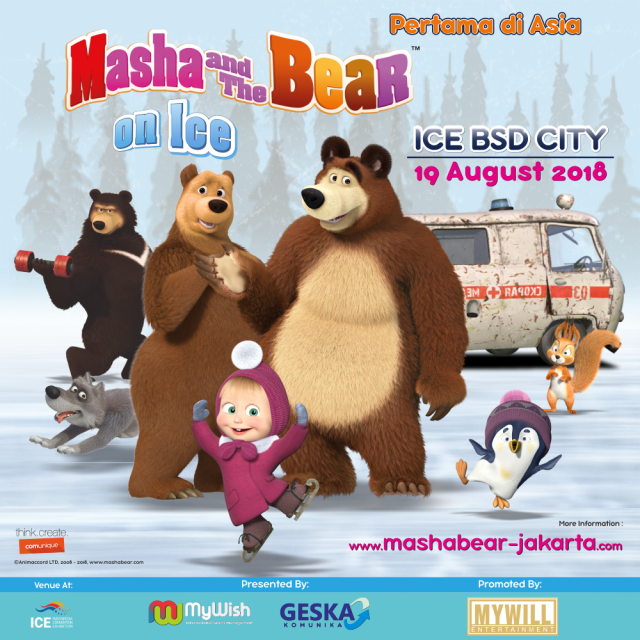 Masha and The Bear on Ice - Indonesia Convention Exhibition, 19 Agustus 2018