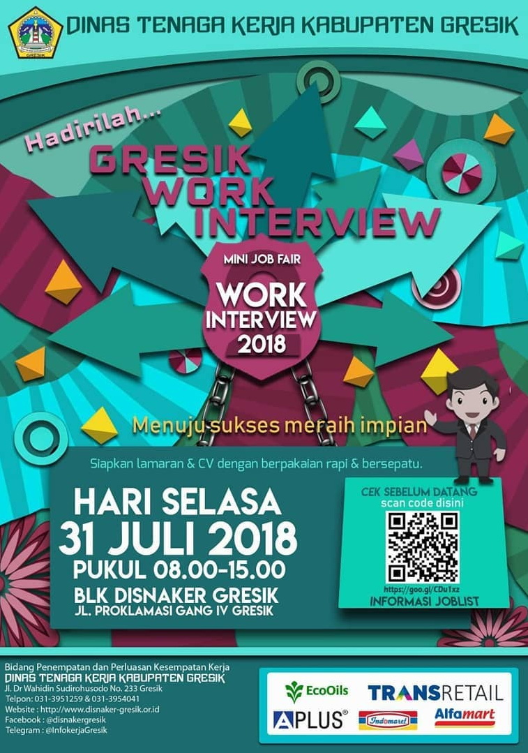 Mini Job Fair Gresik Work Interview - BLK Disnaker, 31 Juli 2018