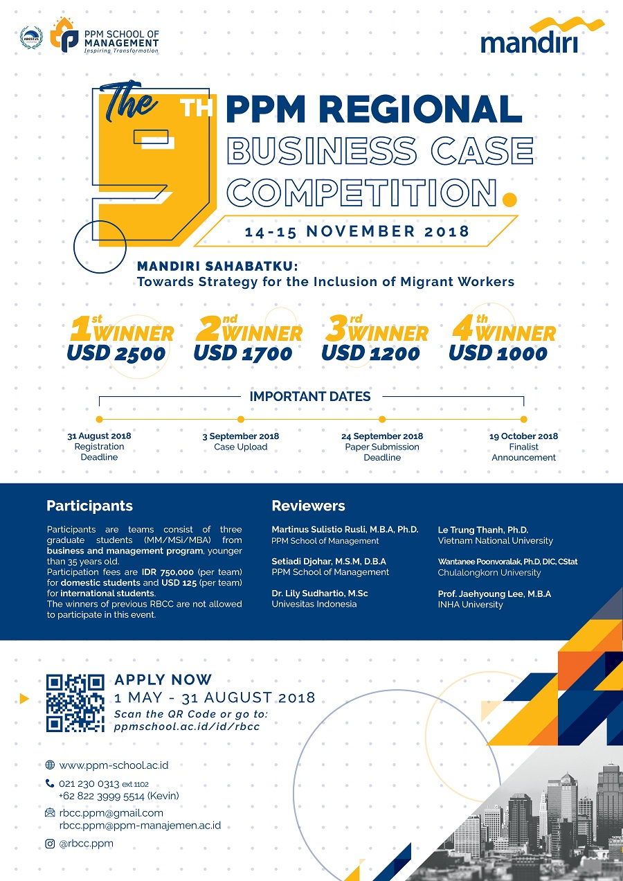 The 9th PPM Regional Business Case Competition - PPM School of Management